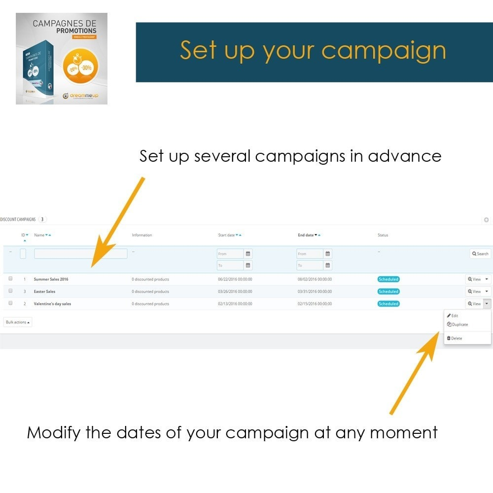 module - Promotion & Geschenke - DMU Discount campaigns - 6