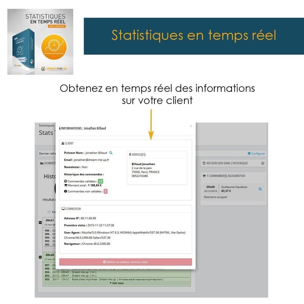 module - Analyses & Statistiques - DMU Statistiques en Temps Réel - 8