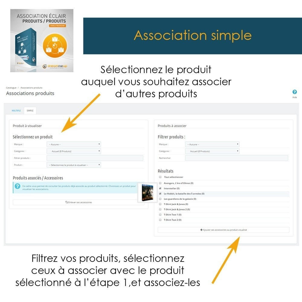 module - Edition rapide & Edition de masse - DMU Association éclair Produits / Produits - 3