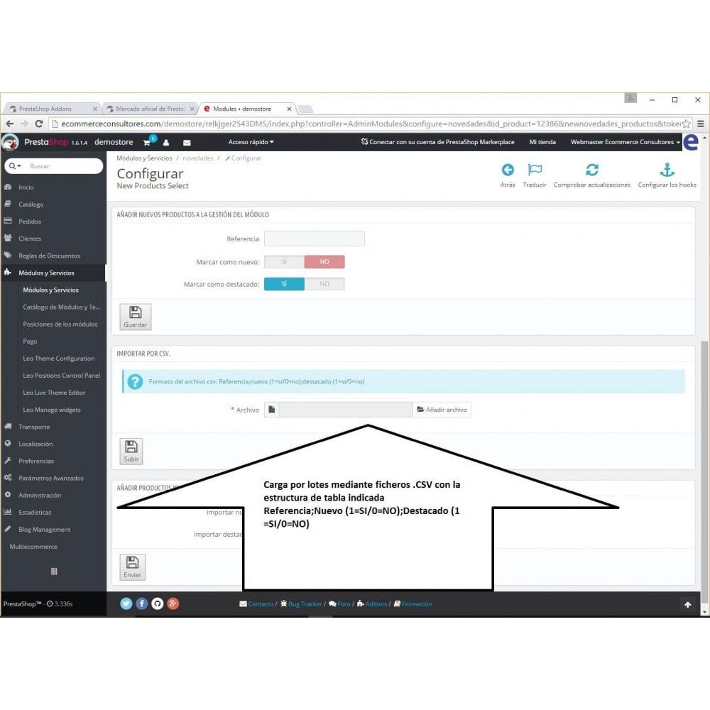 module - Herramientas Administrativas - New Product Select - 4