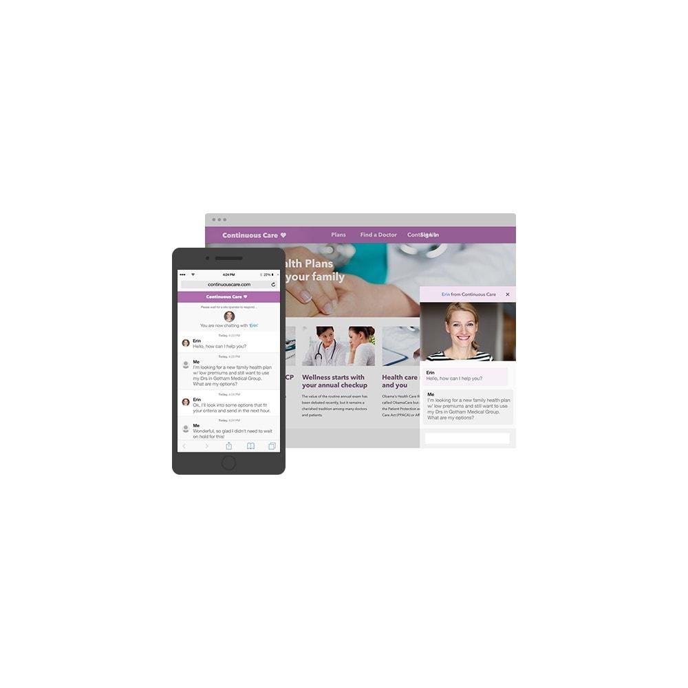 module - Wsparcie & Czat online - LivePerson LiveChat + Wysyłanie wiadomości - 1