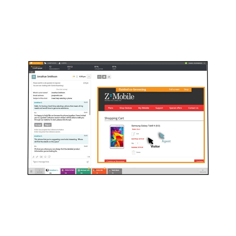 module - Supporto & Chat online - LivePerson LiveChat + Messaging - 6