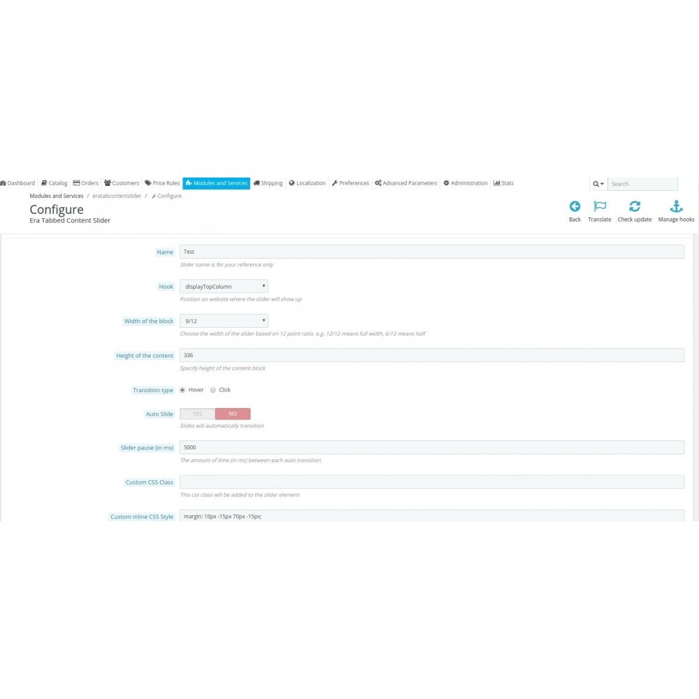 module - Blocchi, Schede & Banner - Era Tab Content Slider - 4