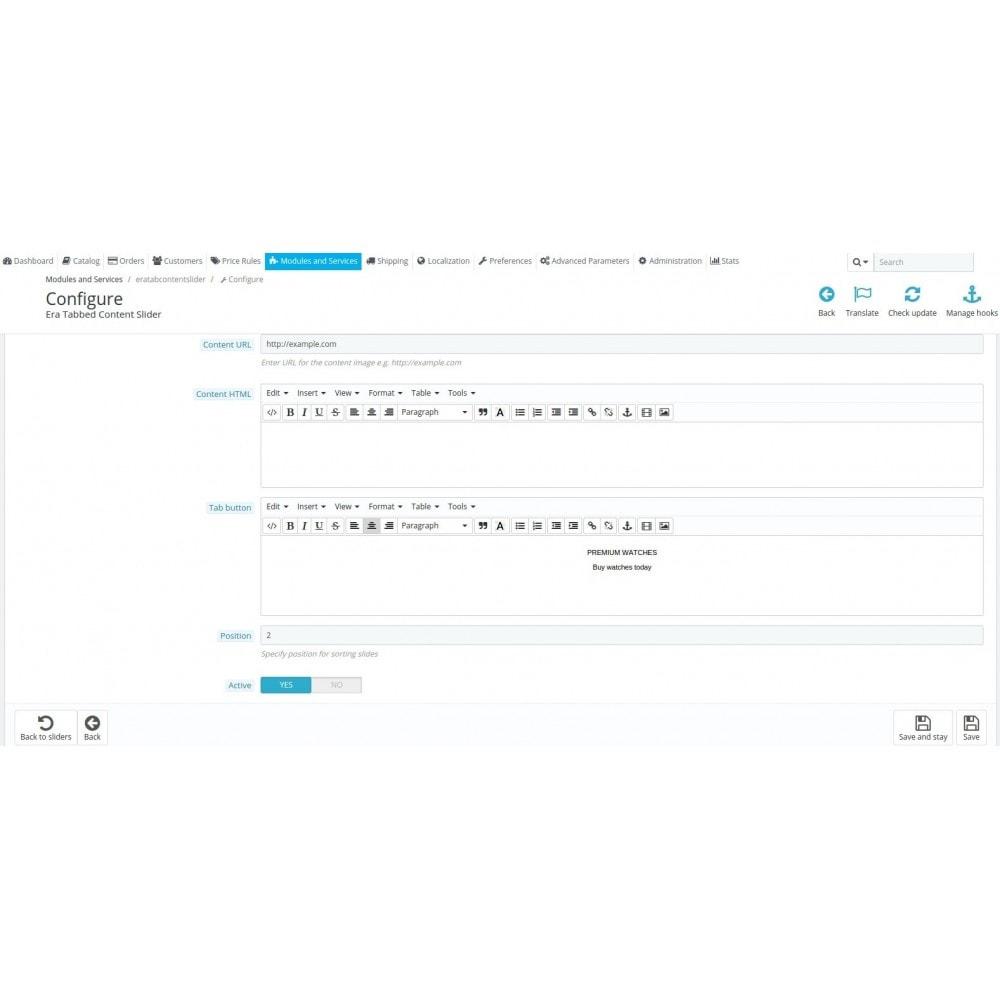 module - Blocchi, Schede & Banner - Era Tab Content Slider - 8