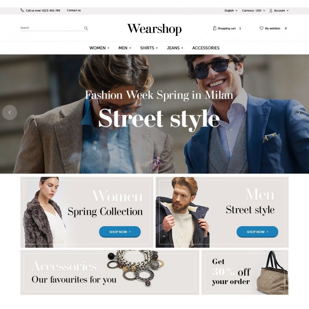 theme - Mode & Chaussures - Wearshop - 2