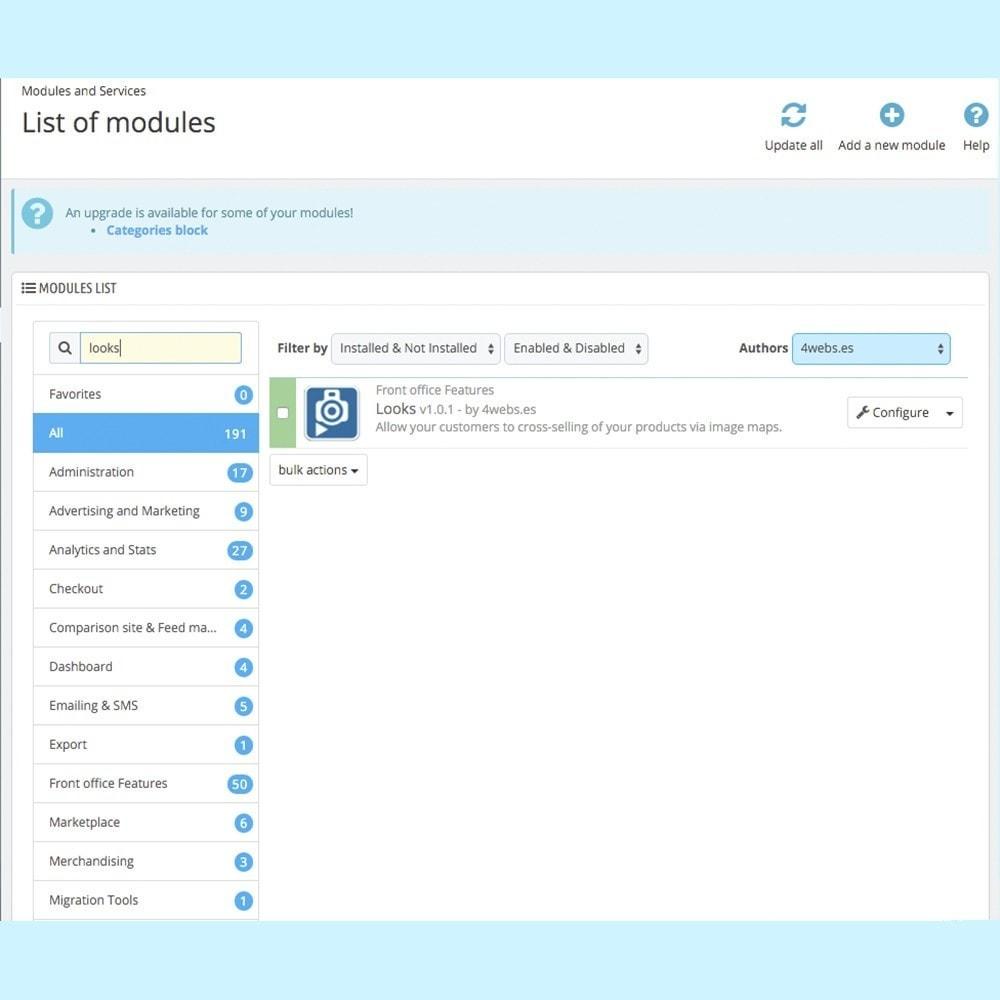 module - Personnalisation de Page - Looks - 2