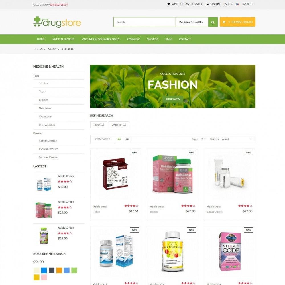 theme - Santé & Beauté - Vitamins, Skin Care, Health - DrugStore Responsive - 3