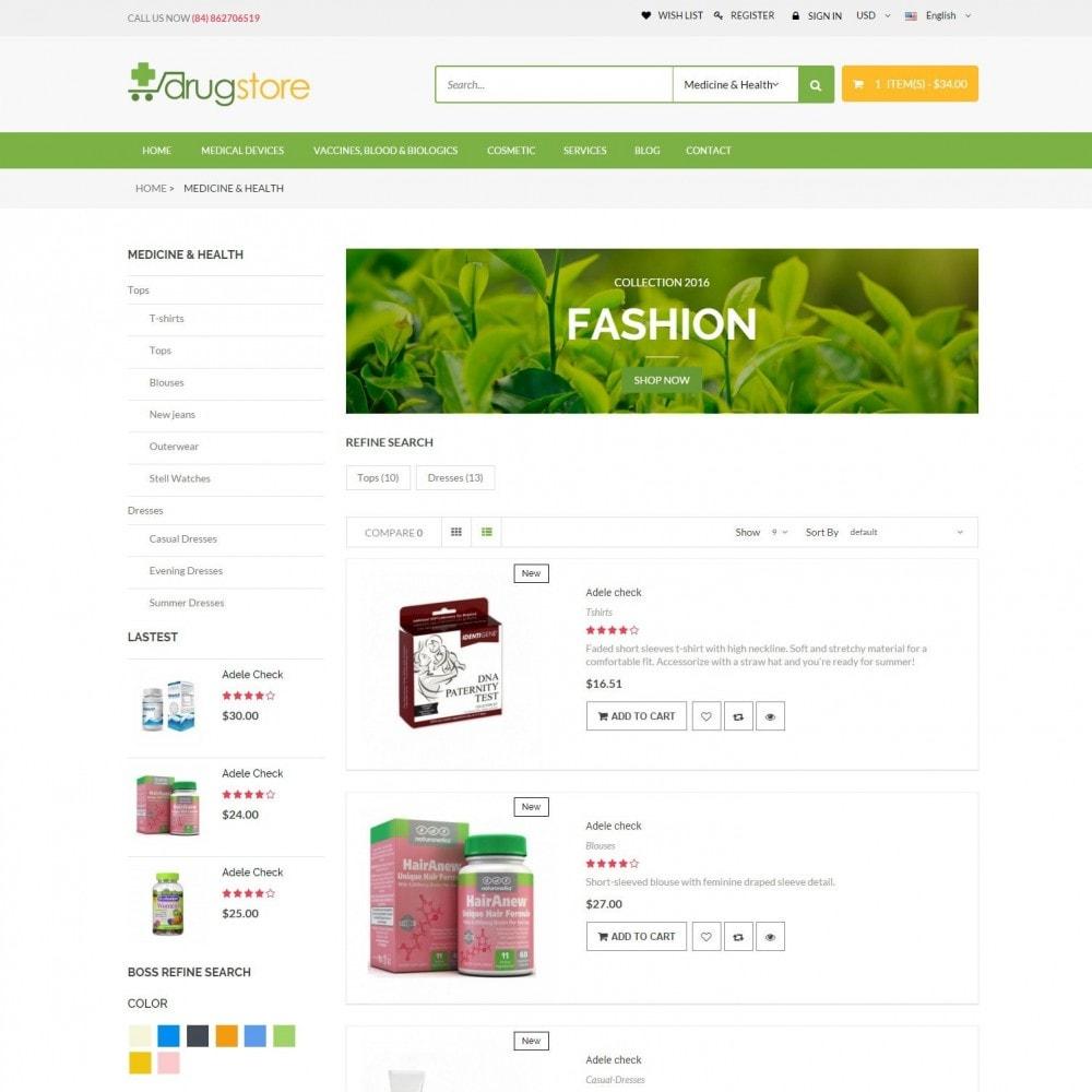 theme - Santé & Beauté - Vitamins, Skin Care, Health - DrugStore Responsive - 4