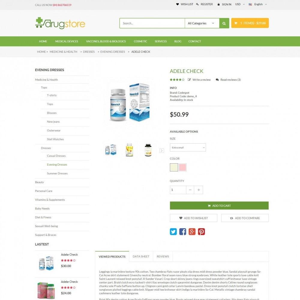 theme - Santé & Beauté - Vitamins, Skin Care, Health - DrugStore Responsive - 5