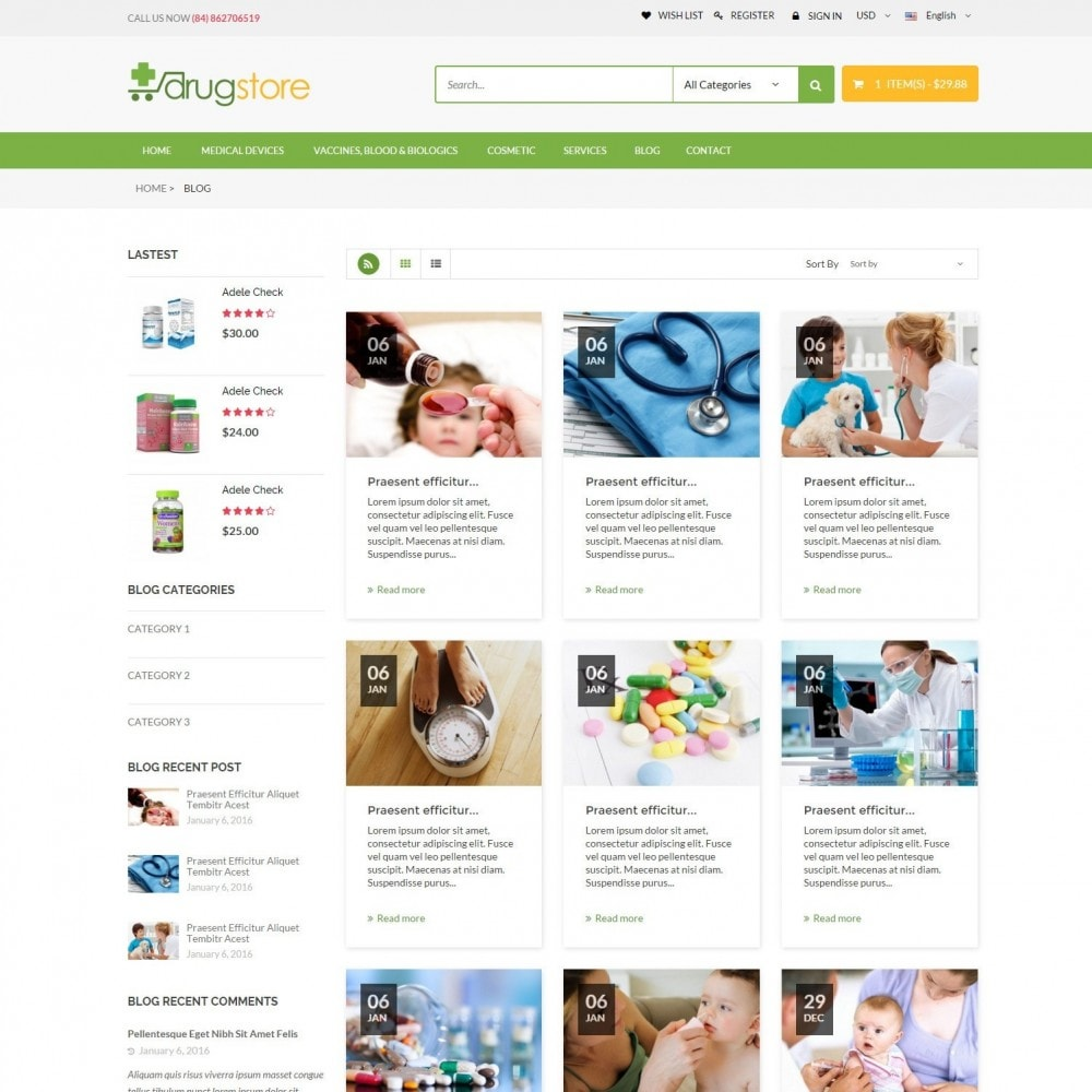 theme - Santé & Beauté - Vitamins, Skin Care, Health - DrugStore Responsive - 6