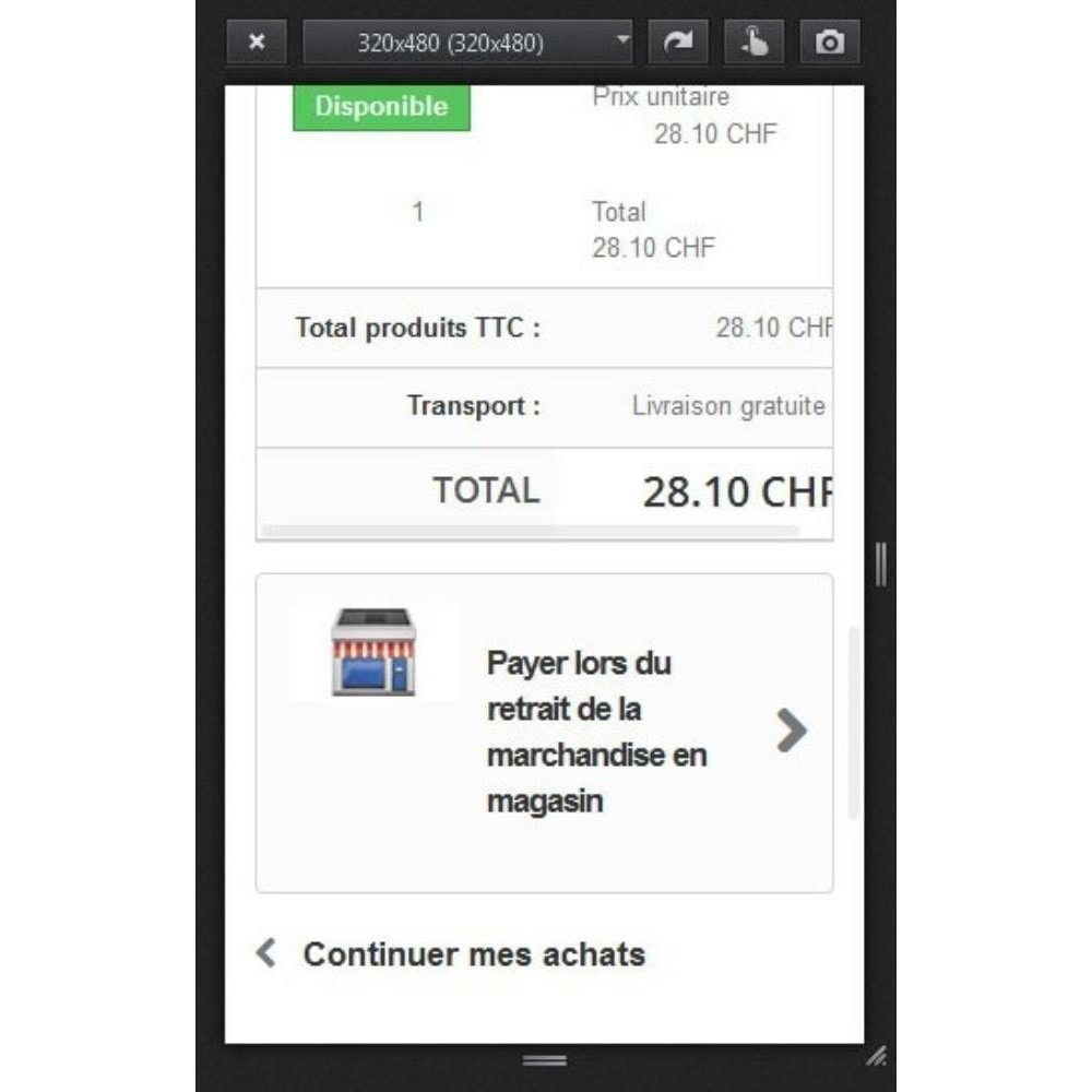 module - Payment in Physical Stores - Cash in store - 3