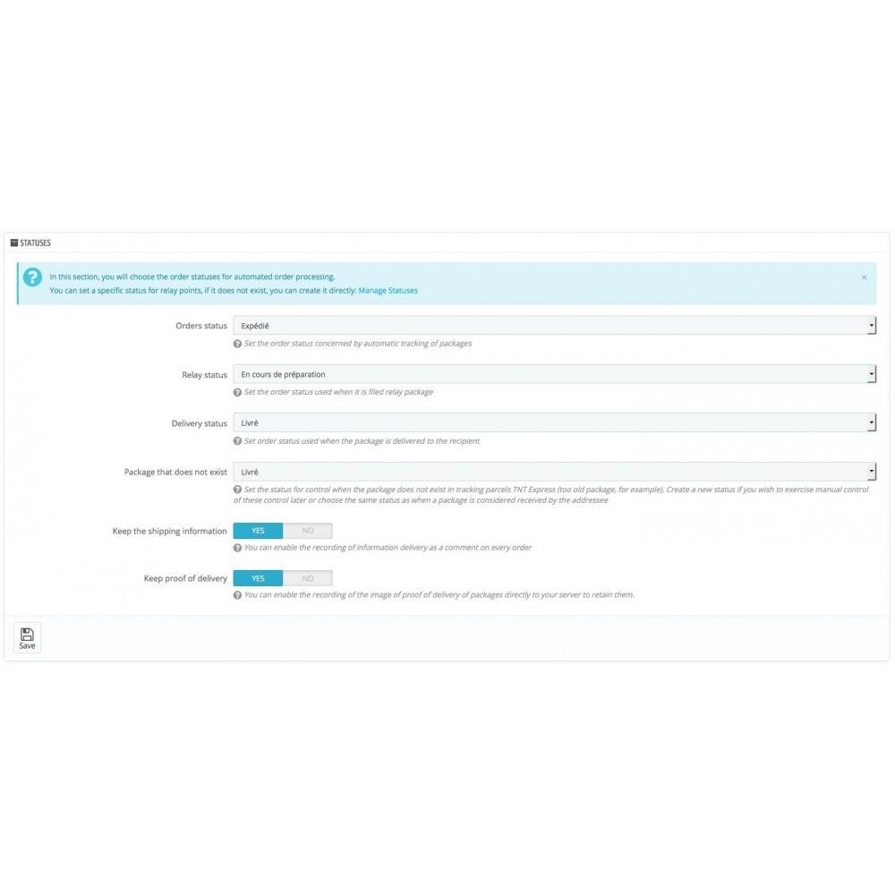 module - Seguimiento de la entrega - TNT Express solution to track your parcels - 2