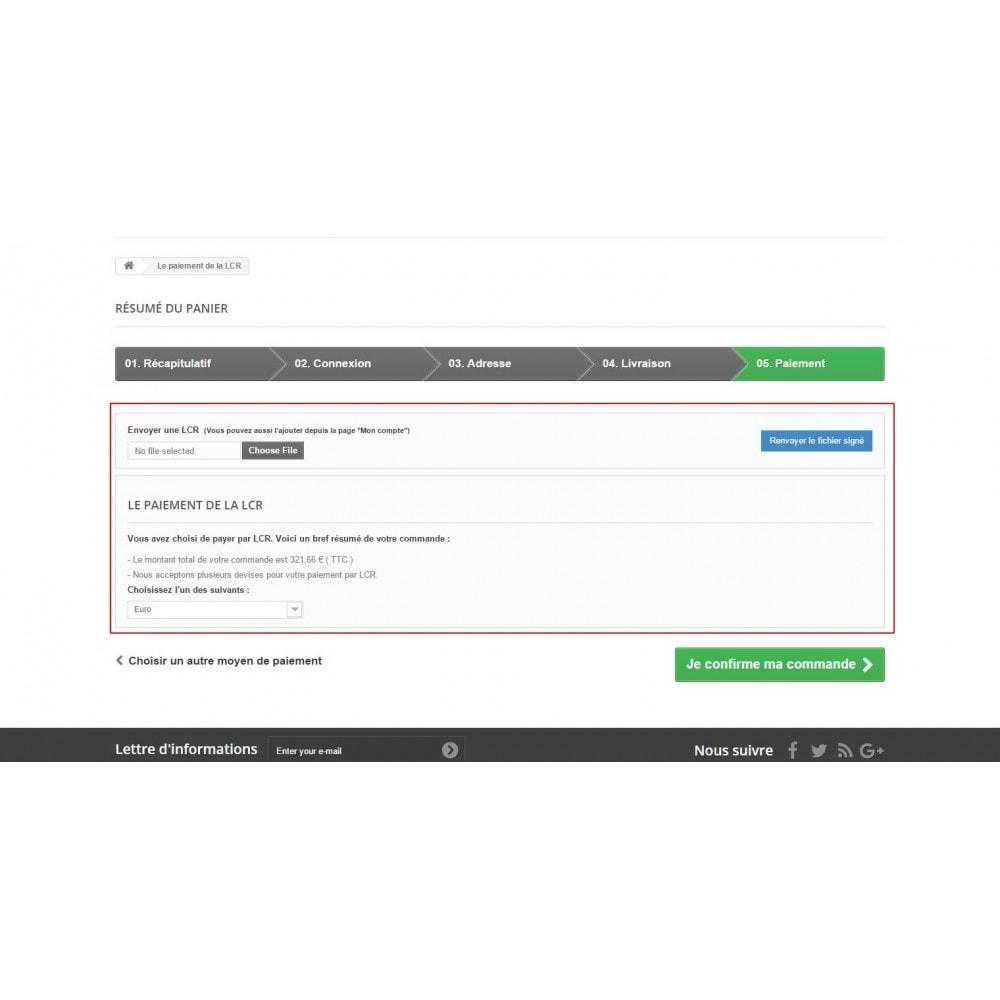 module - Autres moyens de paiement - Lettre de change relevé (LCR) - 8