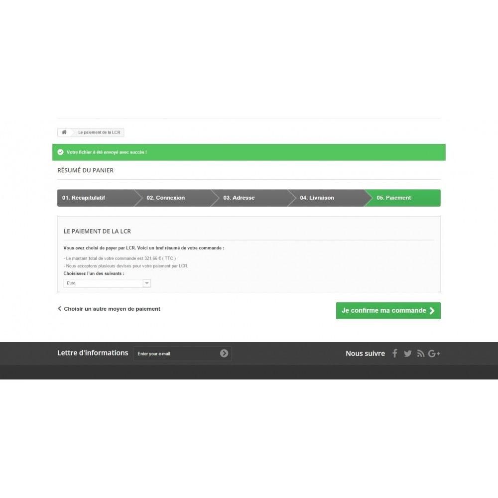module - Autres moyens de paiement - Lettre de change relevé (LCR) - 9