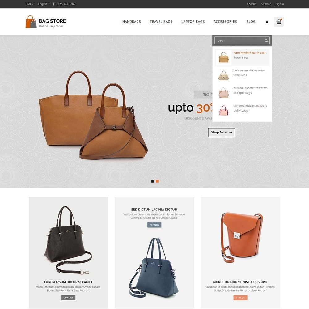 theme - Fashion & Shoes - Bags Store - 8