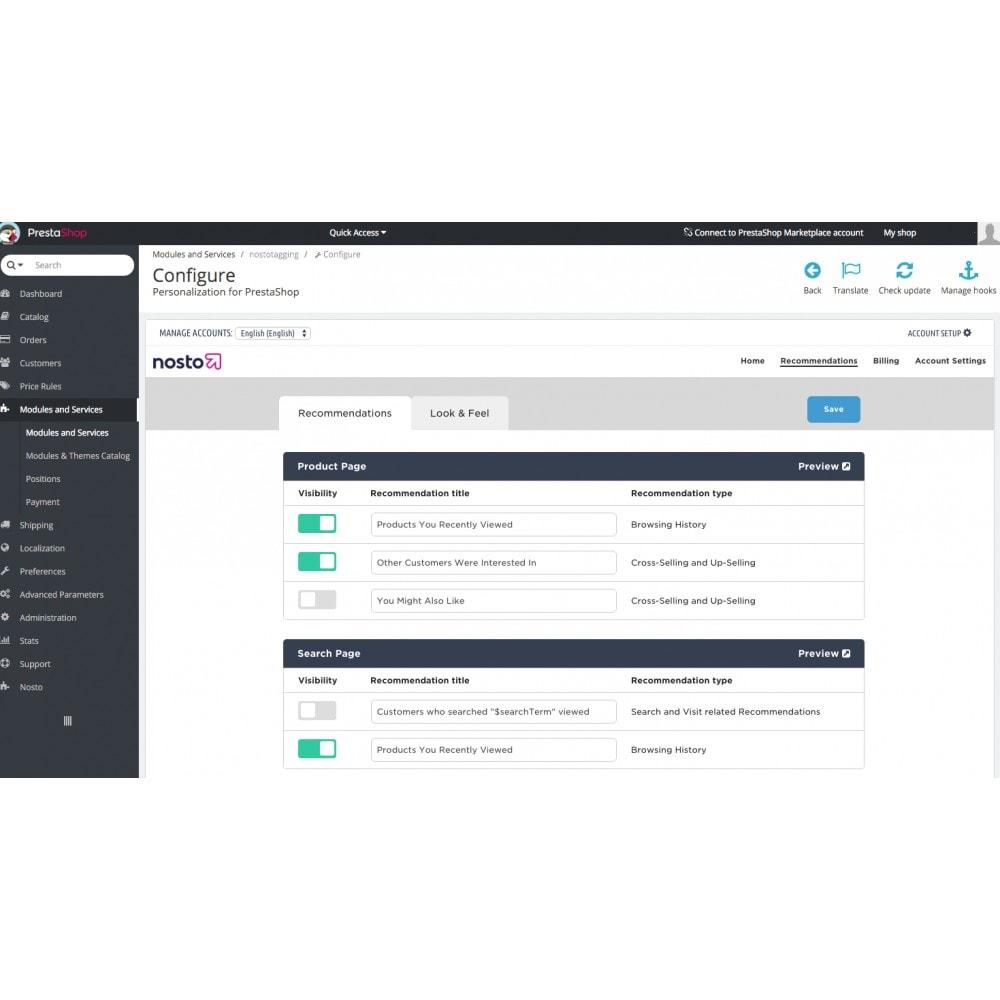 module - Remarketing y Carritos abandonados - Nosto - La solución más completa de personalización - 3