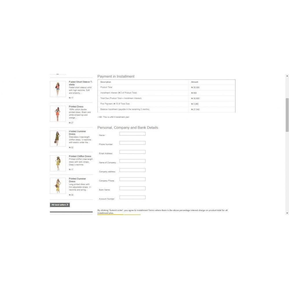module - Otros métodos de pago - Pay in Installment - 5