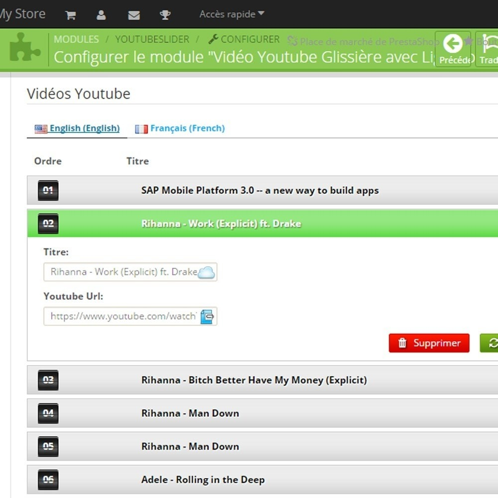 module - Vidéo & Musique - Youtube Video Slider and Gallery with Lightbox - 5