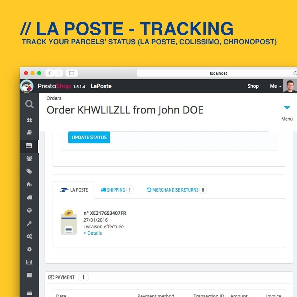 module - Delivery Tracking - La Poste, Colissimo & Chronopost tracking - 3