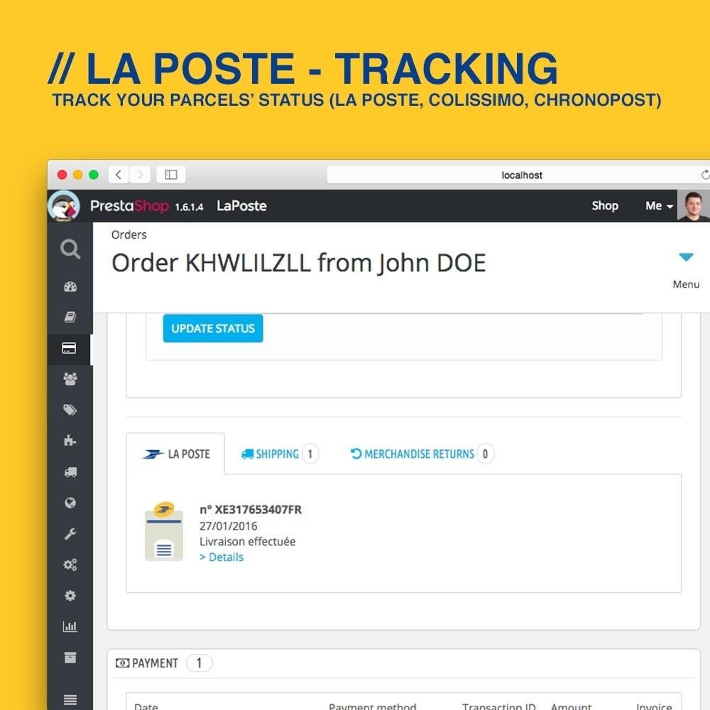 module - Rastreamento da entrega - La Poste, Colissimo & Chronopost tracking - 3