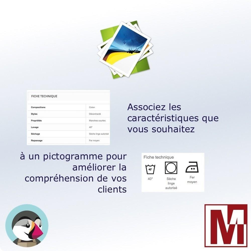 module - Etiquettes & Logos - Associez des images aux caractéristiques produit - 1