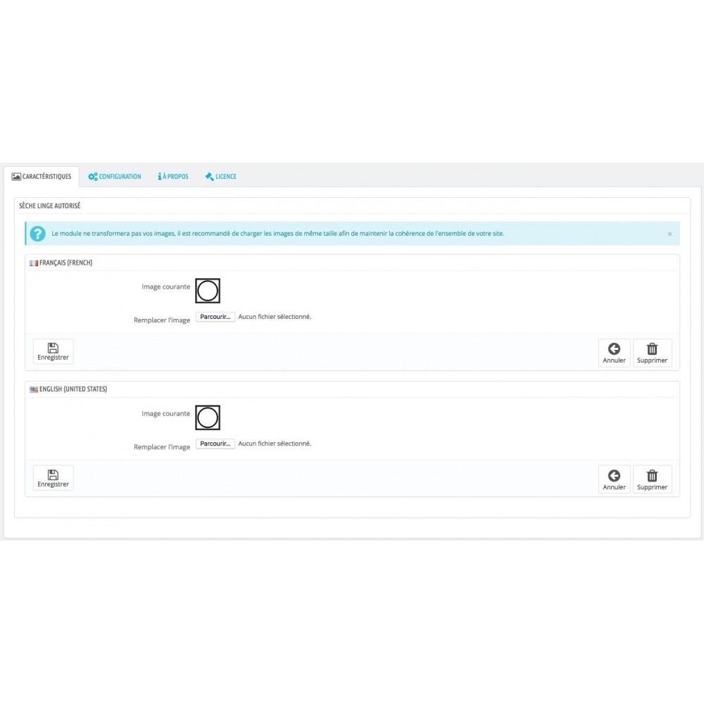 module - Etiquettes & Logos - Associez des images aux caractéristiques produit - 5