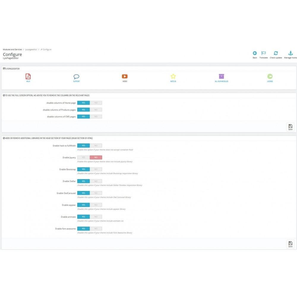 module - Personnalisation de Page - Editeur de page web responsive - 6