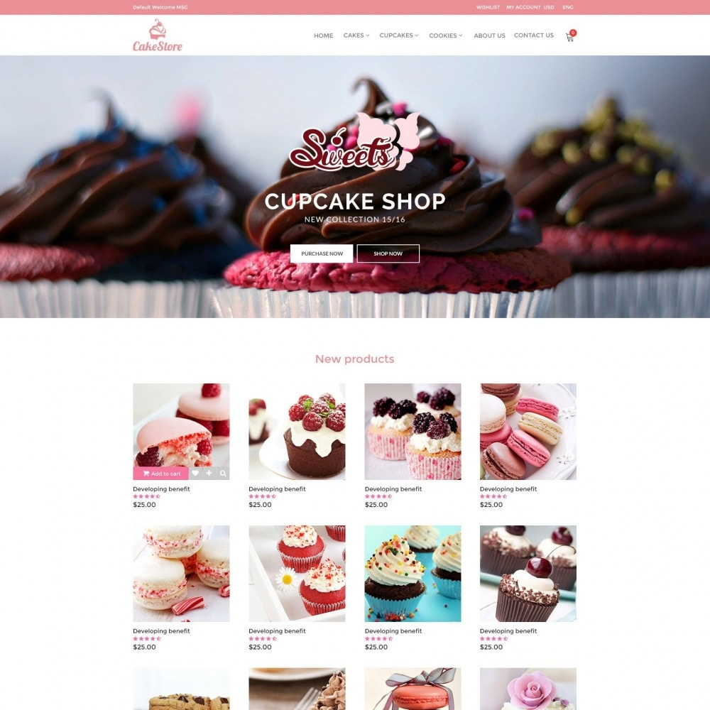 theme - Alimentation & Restauration - Bakery, Food & Drinks - CakeStore Responsive - 2