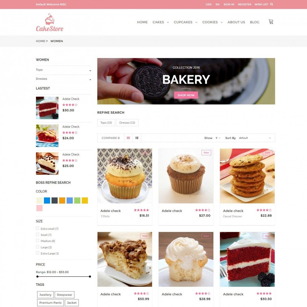 theme - Alimentation & Restauration - Bakery, Food & Drinks - CakeStore Responsive - 3