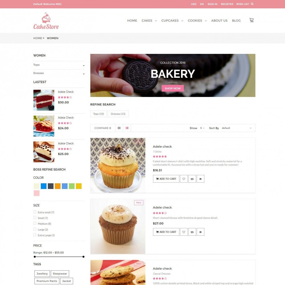 theme - Alimentation & Restauration - Bakery, Food & Drinks - CakeStore Responsive - 4