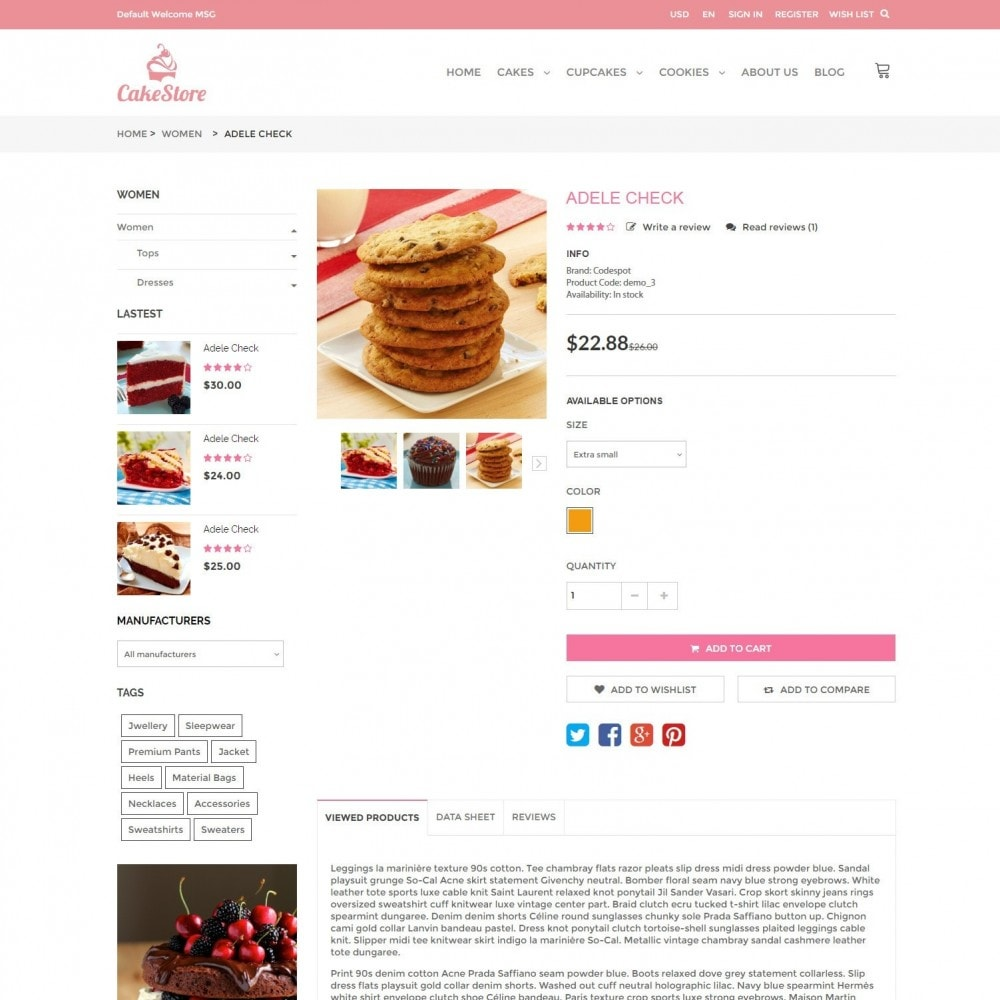 theme - Alimentation & Restauration - Bakery, Food & Drinks - CakeStore Responsive - 5