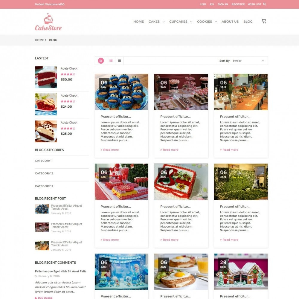 theme - Alimentation & Restauration - Bakery, Food & Drinks - CakeStore Responsive - 6