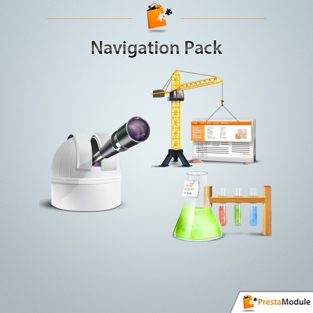 pack - Nuestras ofertas actuales - ¡Aprovecha y ahorra! - Pack Navigation: 3 modules to optimize your catalog - 1