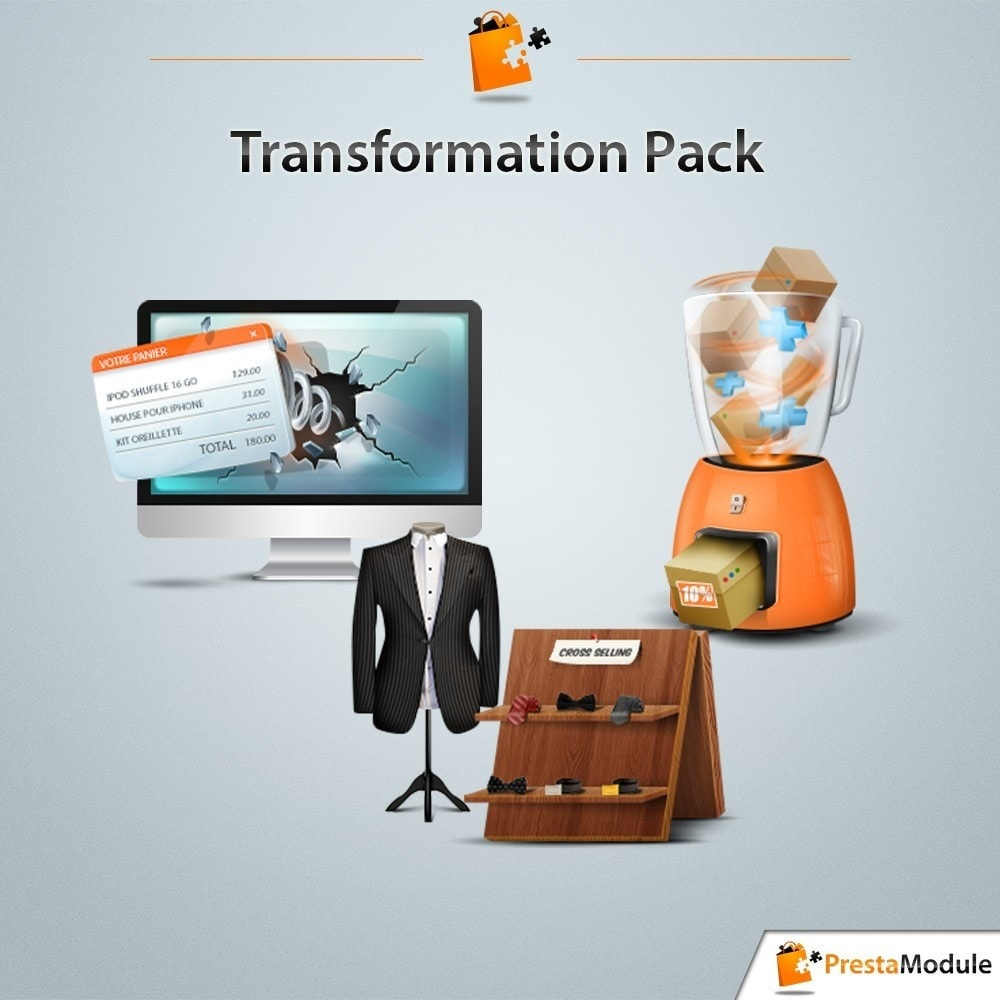pack - Cross-Selling & Produktbundles - Pack Transformation: 3 modules to increase your sales - 1