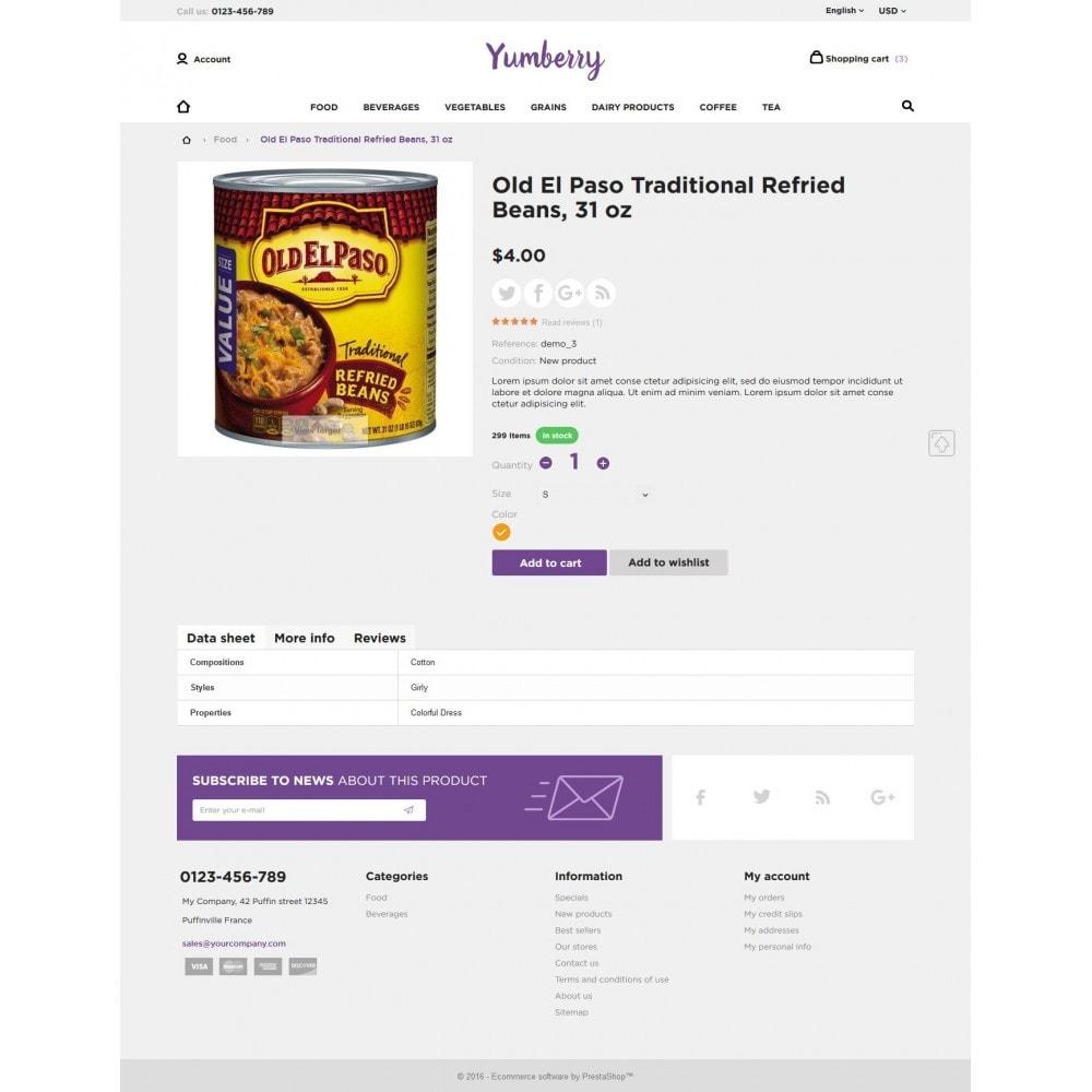theme - Продовольствие и рестораны - Yumberry Food Market - 9