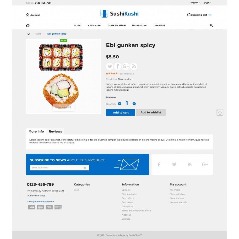 theme - Żywność & Restauracje - Sushi Kushi - 10