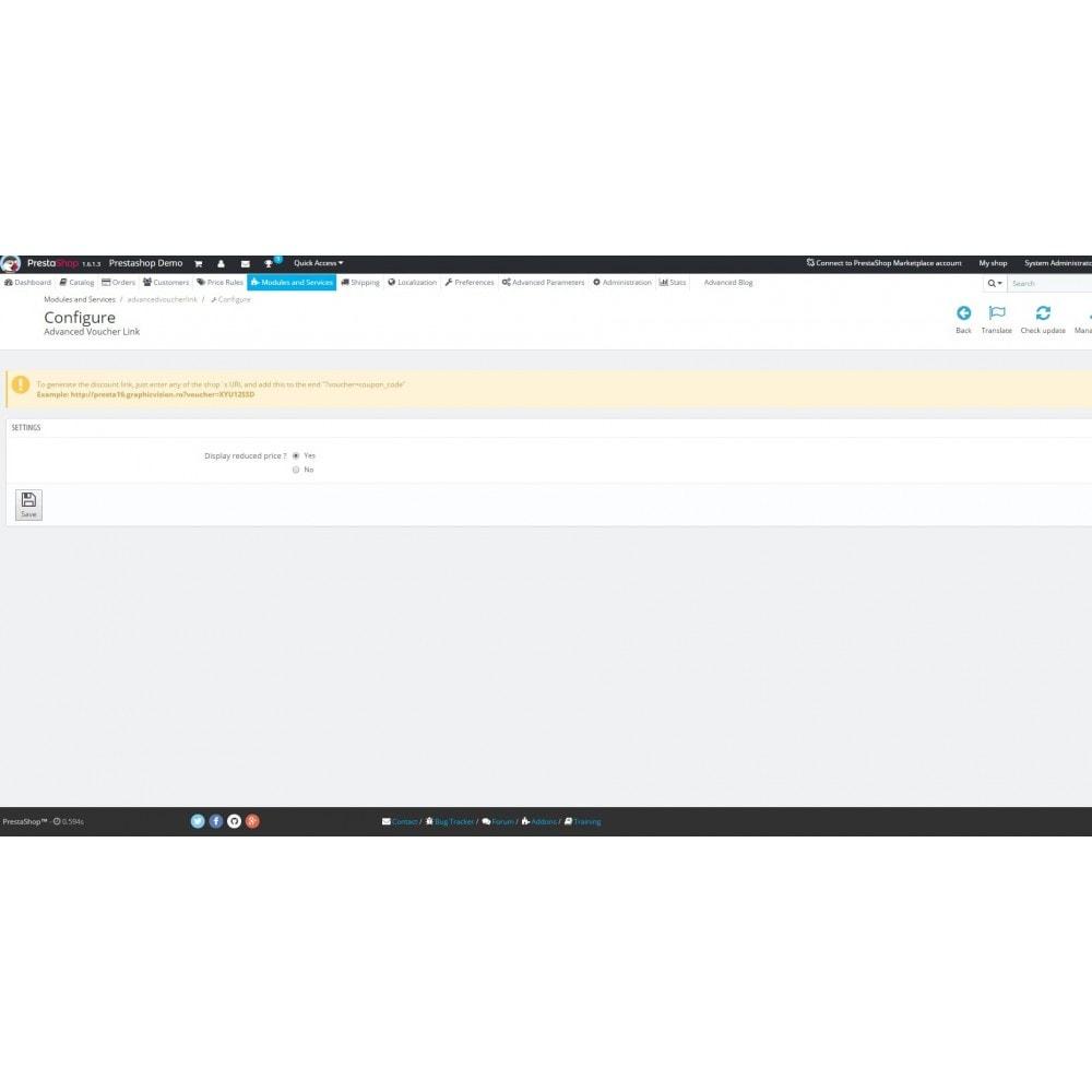 module - Promotions & Cadeaux - Voucher & Coupon Link Generator - 2