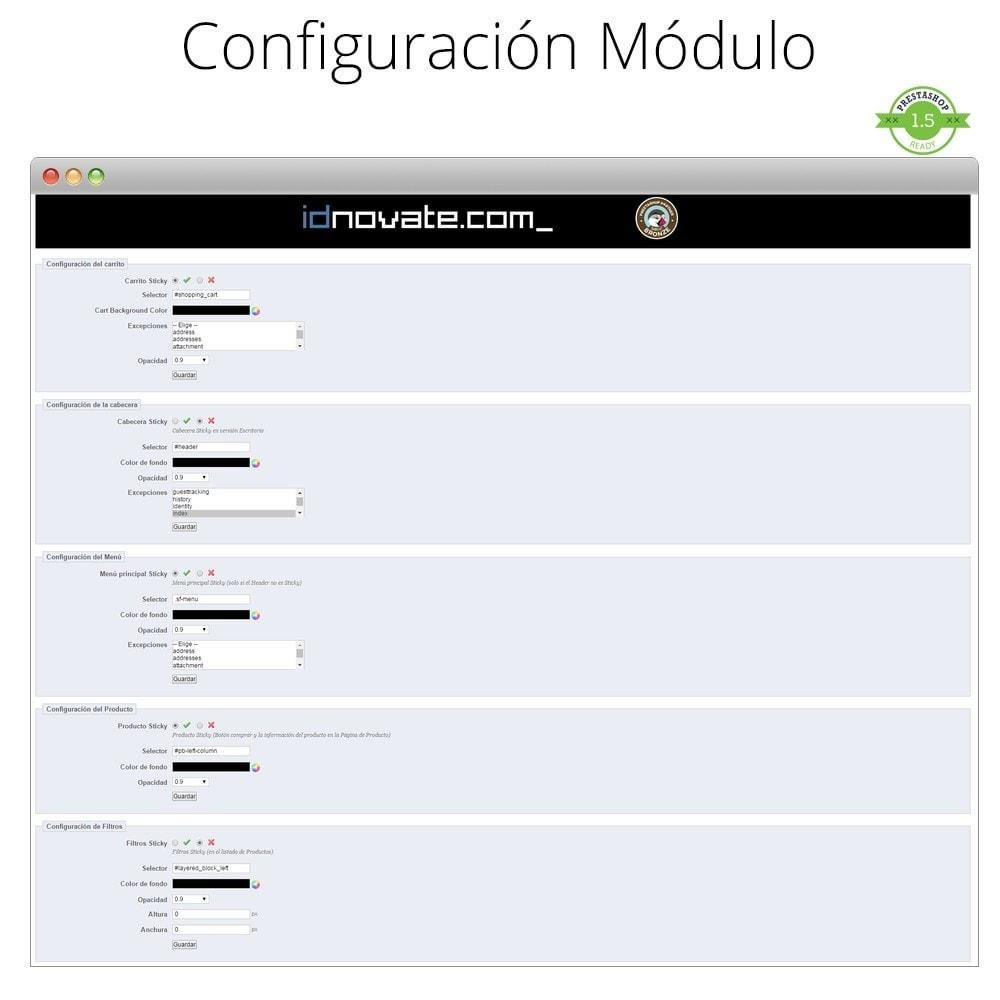 module - Personalización de la página - Haz flotante (sticky) la Cabecera, Carrito, Menú - 3