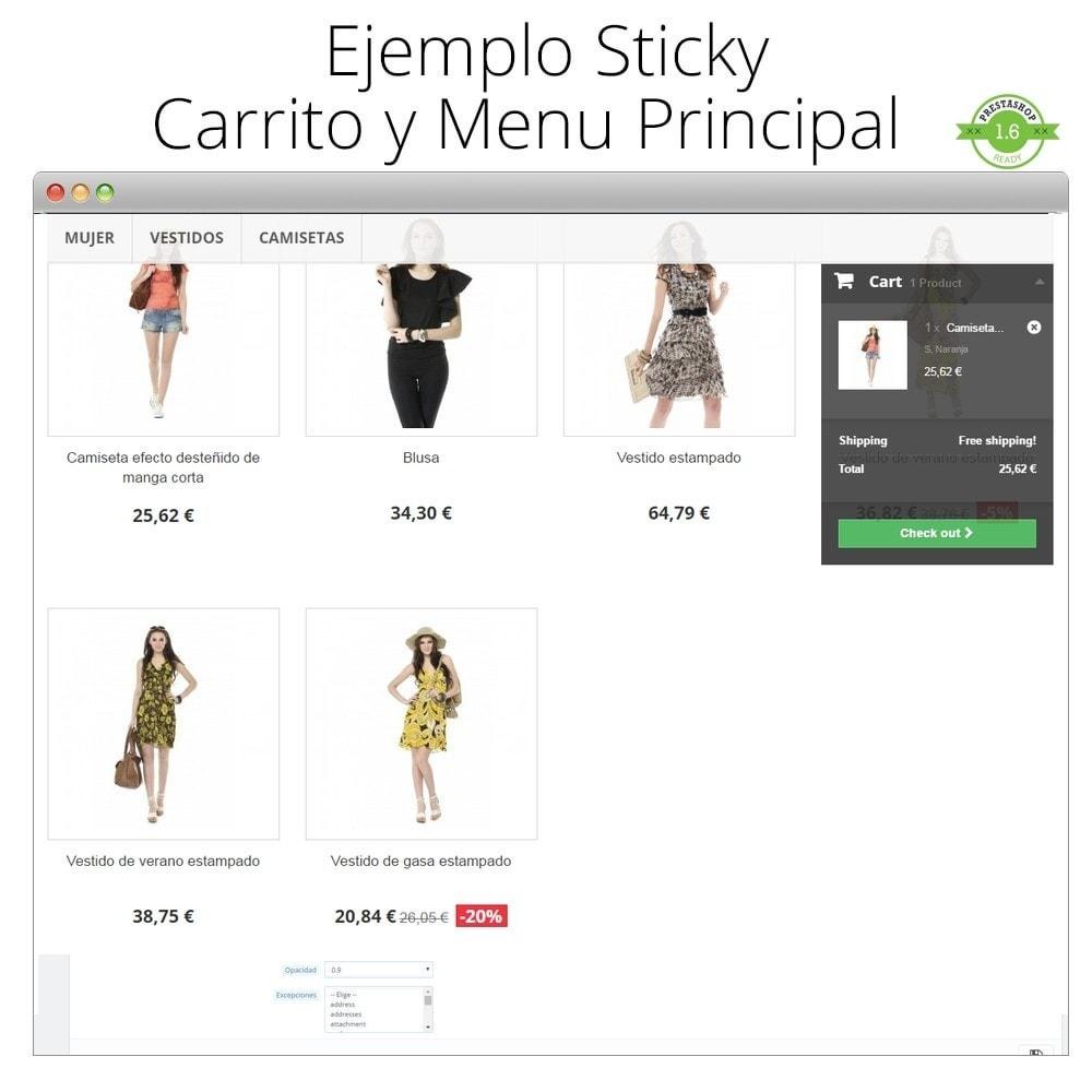 module - Personalización de la página - Haz flotante (sticky) la Cabecera, Carrito, Menú - 5