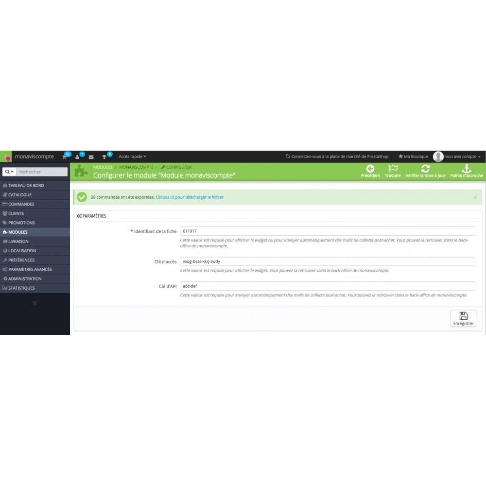 module - Avis clients - Avis - monaviscompte - 3