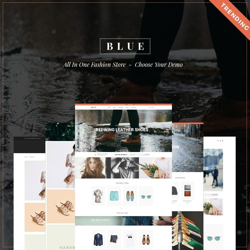theme - Moda & Calzature - Leo Blue - 1