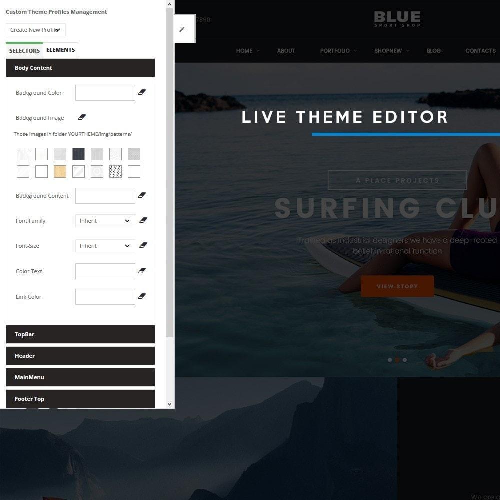 theme - Deportes, Actividades y Viajes - BlueSport - 7