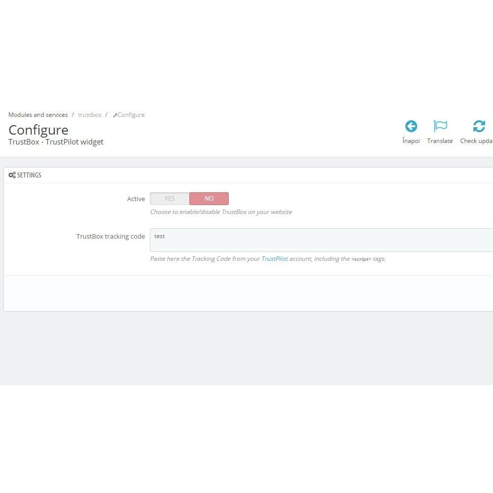 module - Отзывы клиентов - TrustBox - TrustPilot Ratings Widget - 4