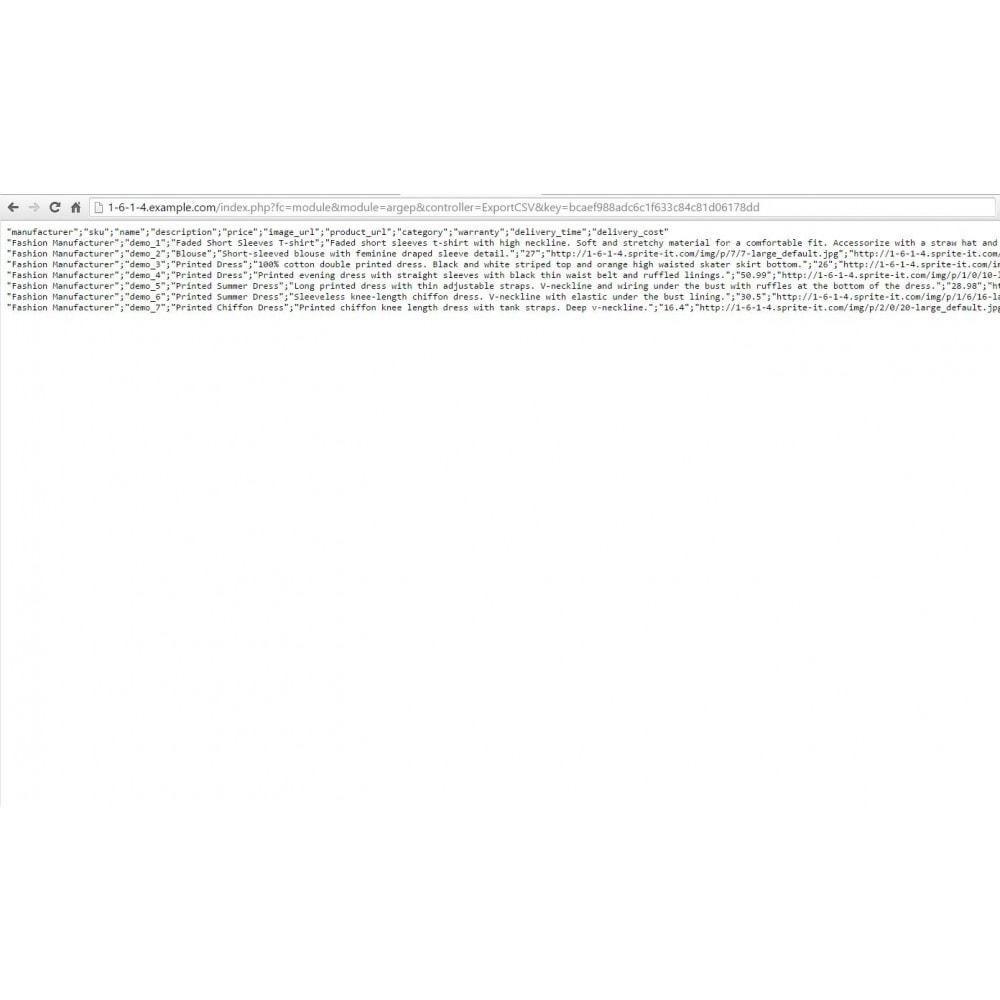 module - Comparateurs de prix - Argep Product Feed - 3