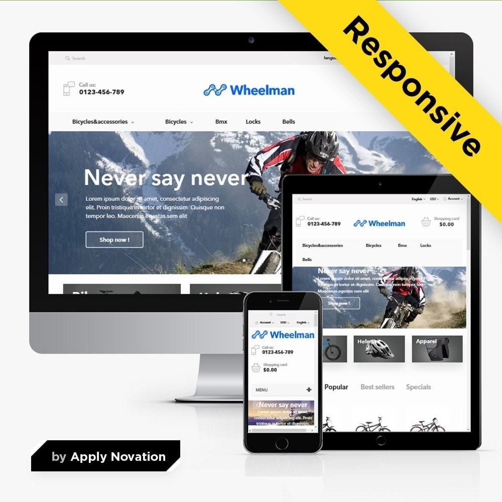 theme - Desporto, Actividades & Viagens - WheelMan Bike Store - 1