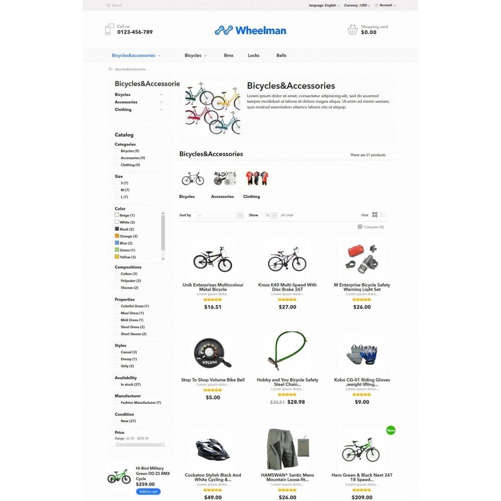 theme - Desporto, Actividades & Viagens - WheelMan Bike Store - 5