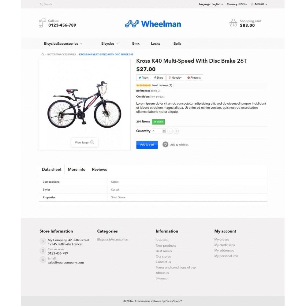 theme - Desporto, Actividades & Viagens - WheelMan Bike Store - 7