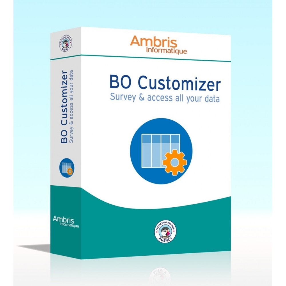 module - Administrative Tools - BO Customizer : survey and access all your data - 1
