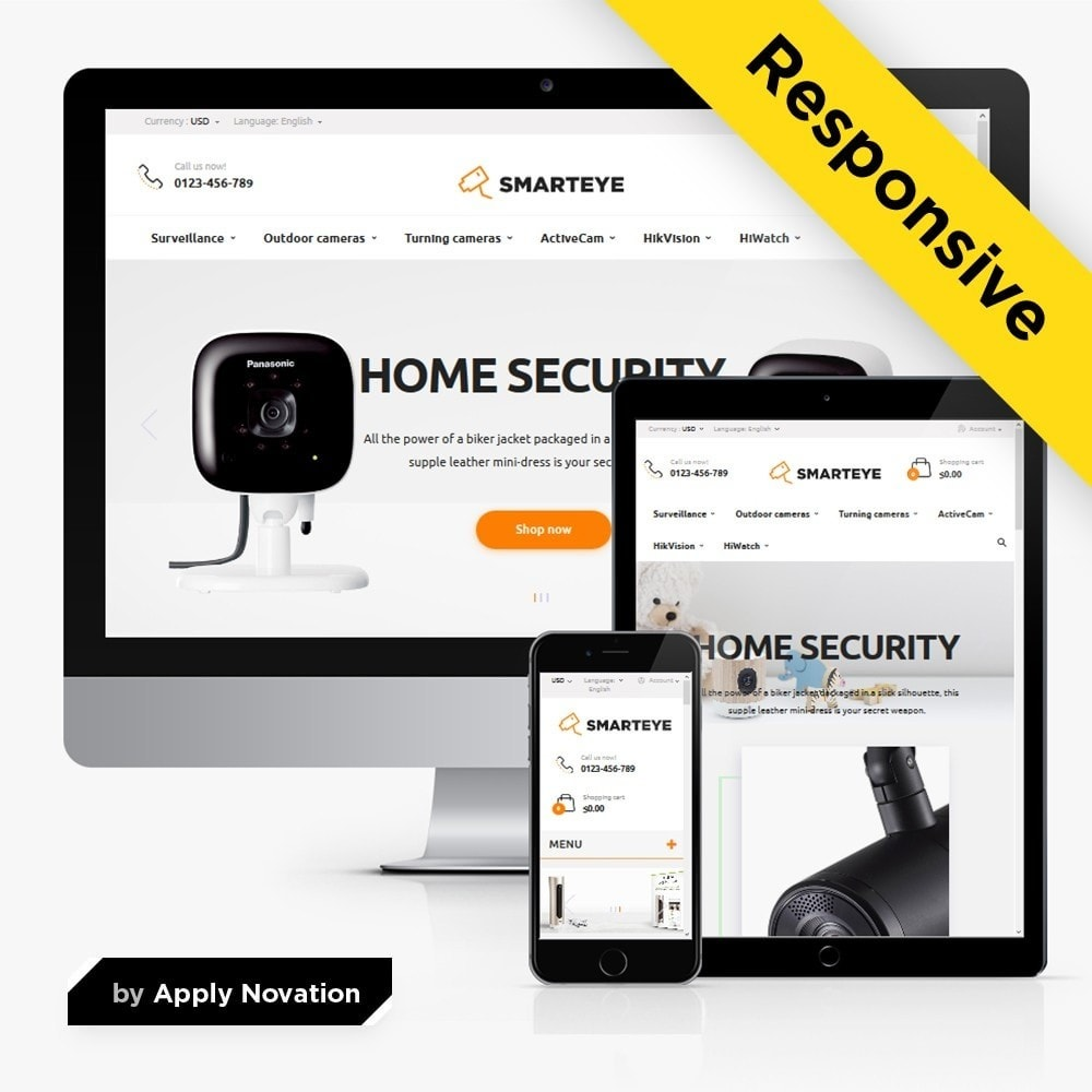 theme - Electronique & High Tech - SmartEye Security Cameras - 1