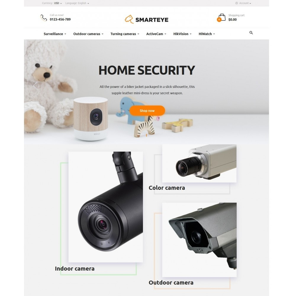 theme - Electronique & High Tech - SmartEye Security Cameras - 2